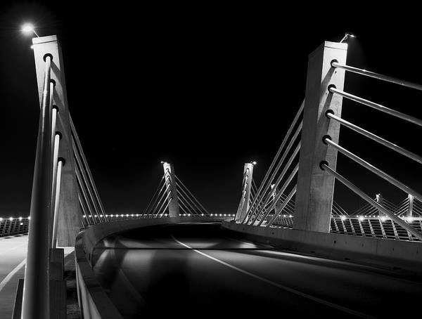 Photograph - Curved Bridge Bw by Ivan Slosar