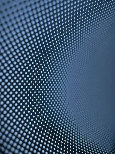 Order Digital Art - Curved Dot Pattern by Ralf Hiemisch