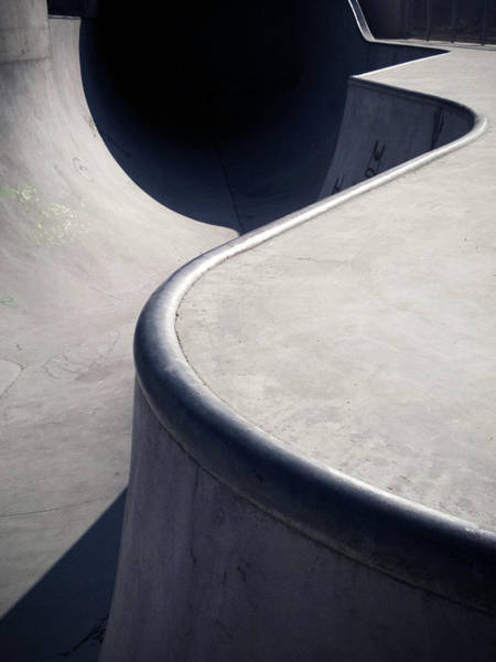 Skateboard Photograph - Curves And Lines Of Skatepark In by Daitozen