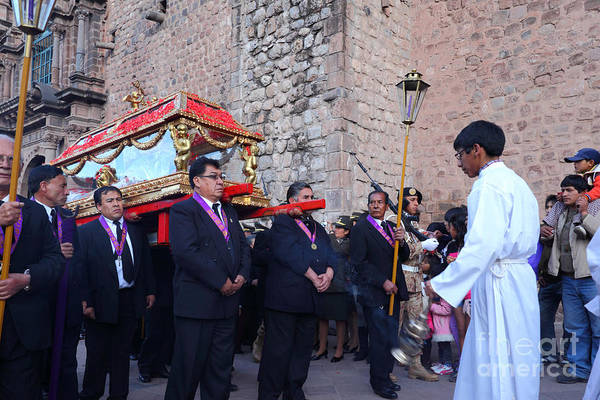 Photograph - Cusco Good Friday Procession by James Brunker