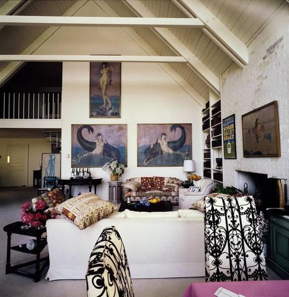 Wall Art - Photograph - Cushing's Living Room by Horst P. Horst