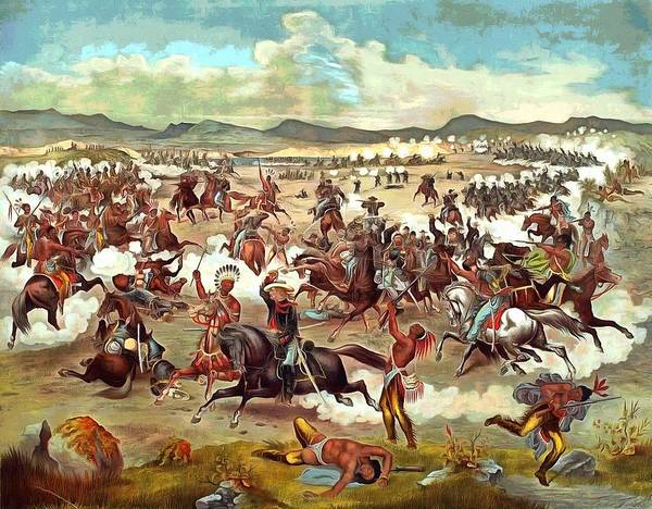 Painting - Custers Last Charge by Vintage Image Collection