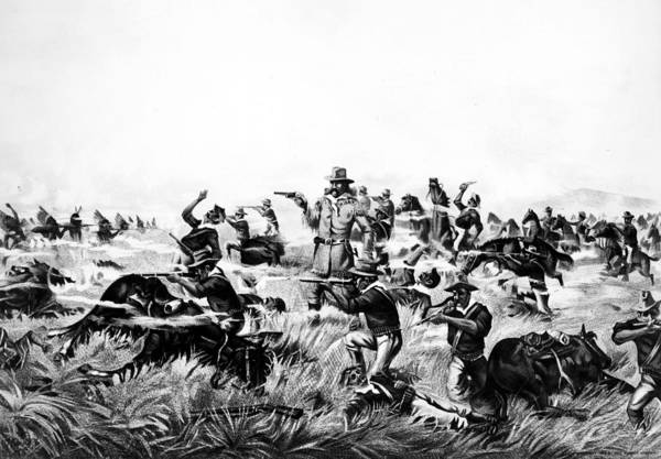 Big Fight Painting - Custer's Last Fight, 1876 by Granger