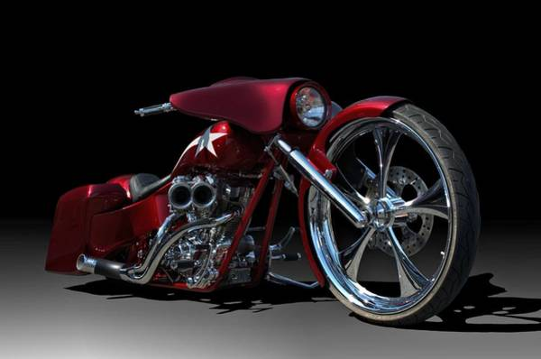 Photograph - Custom Bagger Motorcycle by Tim McCullough