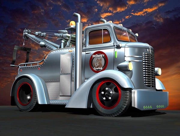 Wall Art - Digital Art - Custom Coe Tow Truck by Stuart Swartz