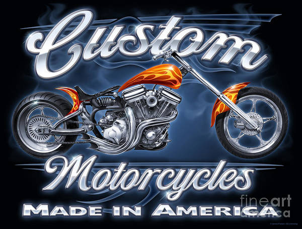 Painting - Custom Motorcycles by JQ Licensing