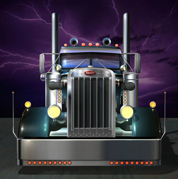 Wall Art - Digital Art - Custom Peterbilt 3 by Stuart Swartz