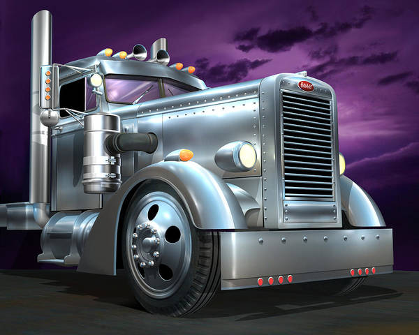 Wall Art - Digital Art - Custom Peterbilt Silver Ghost by Stuart Swartz