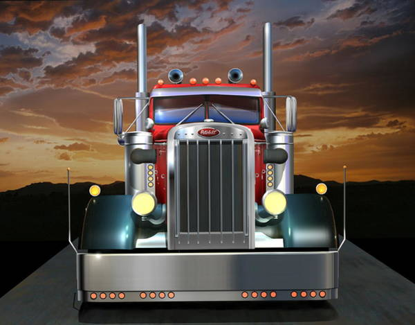 Illusion Digital Art - Custom Peterbilt by Stuart Swartz
