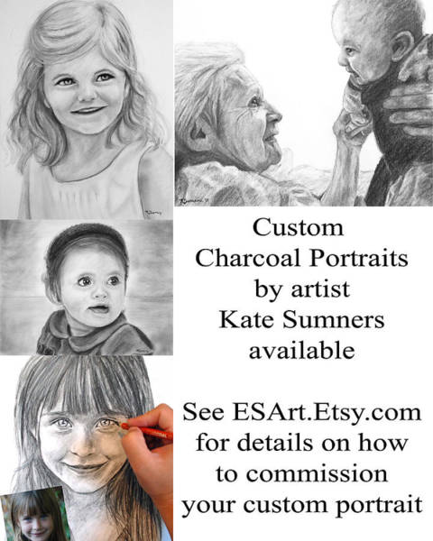 Drawing - Custom Portrait Commissions by Kate Sumners