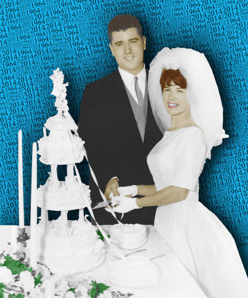 Painting - Custom Portrait Wedding Parents Anniversary 2 by Tony Rubino
