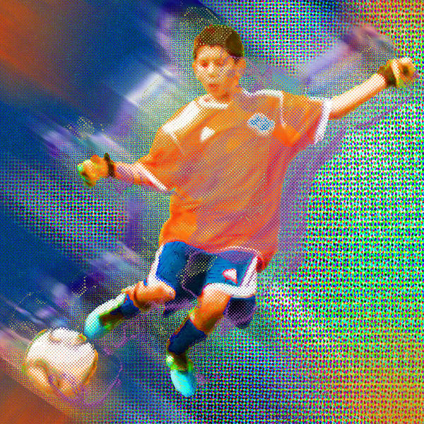 Painting - Custom Sport Portrait Family 3 Boy 1 by Tony Rubino