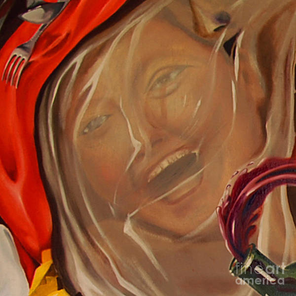Painting - Cut - L'addition S'il Vous Plait by James Lavott