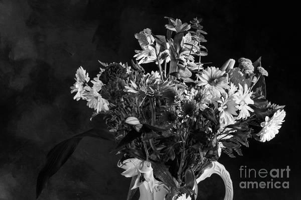 Photograph - Cut Flowers In Monochrome by Les Palenik
