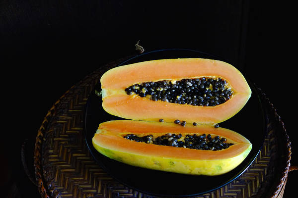 Photograph - Cut Papaya by August Timmermans