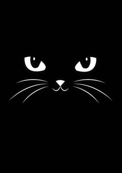 Wall Art - Digital Art - Cute Black Cat by Philipp Rietz