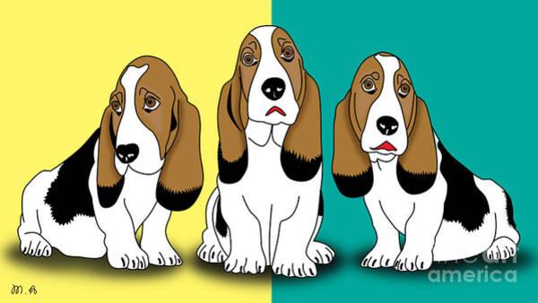 Wall Art - Digital Art - Cute Dogs  by Mark Ashkenazi