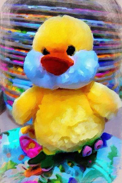 Painting - Cute Ducky by Joan Reese