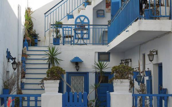 Photograph - Cute Hotel Santorini Island Greece by Colette V Hera  Guggenheim
