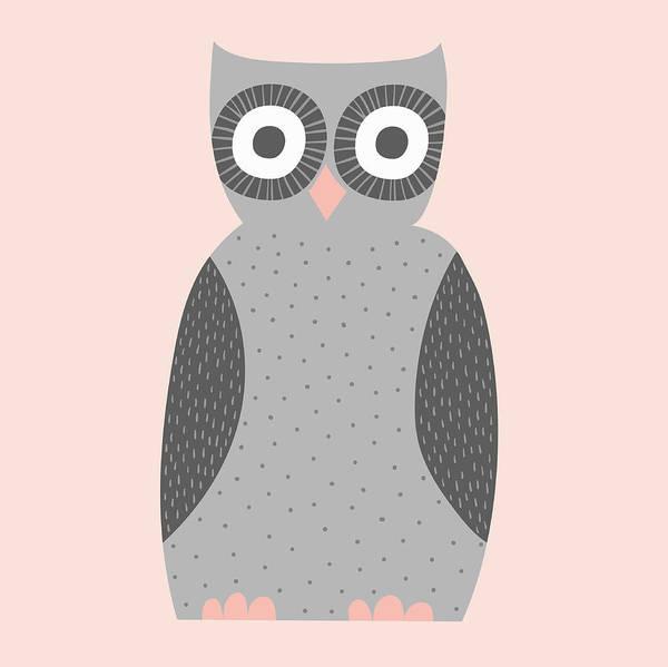 Wall Art - Photograph - Cute Illustration Of Gray Owl by Ikon Ikon Images