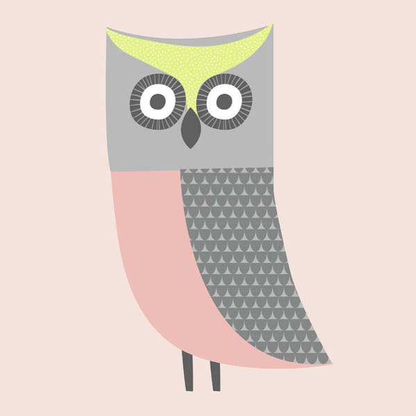 Digital Art - Cute Illustration Of Pink, Gray And by Alice Potter