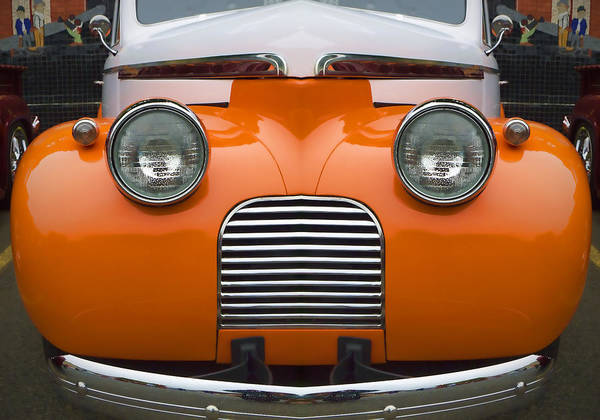 Clever Wall Art - Photograph - Cute Little Car Faces Number 5 by Carol Leigh