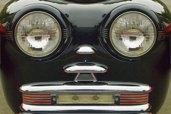 Clever Wall Art - Photograph - Cute Little Car Faces Number 6 by Carol Leigh