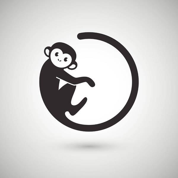 East Africa Digital Art - Cute Monkey , New Year 2016 by Littlepaw