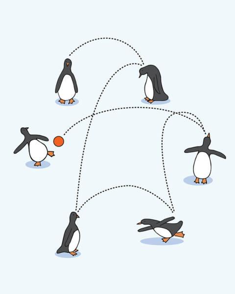 Cute Penguin Art Art Print