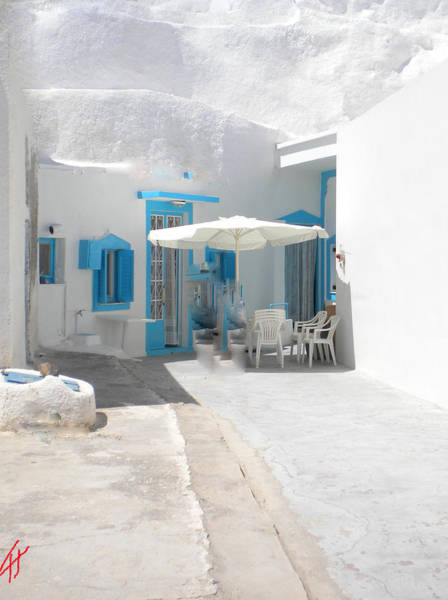 Photograph - Cute Santorini Island Hause  by Colette V Hera  Guggenheim