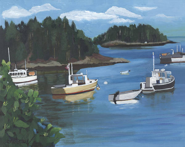 Painting - Cutler Harbor  Maine by Jane Croteau