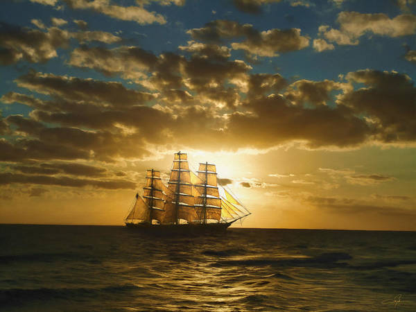 Tall Ships Wall Art - Digital Art - Cutty Sark by Dale Jackson