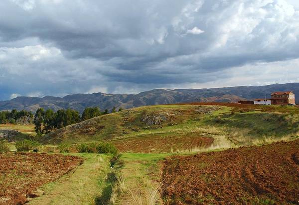 Photograph - Cuzco Agriculture In The Andes by Cascade Colors