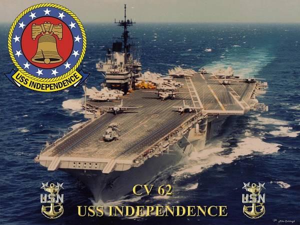 Usn Digital Art - Cv-62 Uss Independence  by Mil Merchant