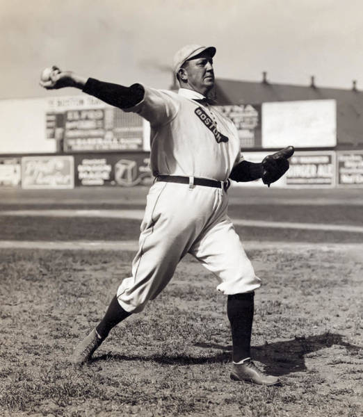 Baseball Hall Of Fame Wall Art - Photograph - Cy Young - American League Pitching Superstar - 1908 by Daniel Hagerman