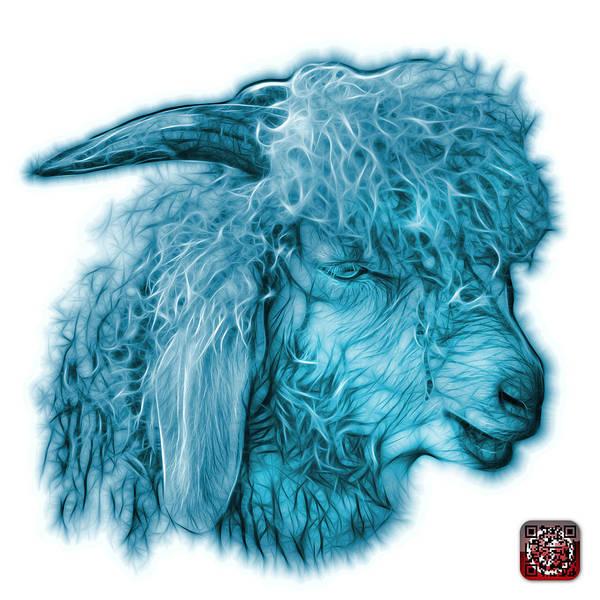 Digital Art - Cyan Angora Goat - 0073 Fs by James Ahn