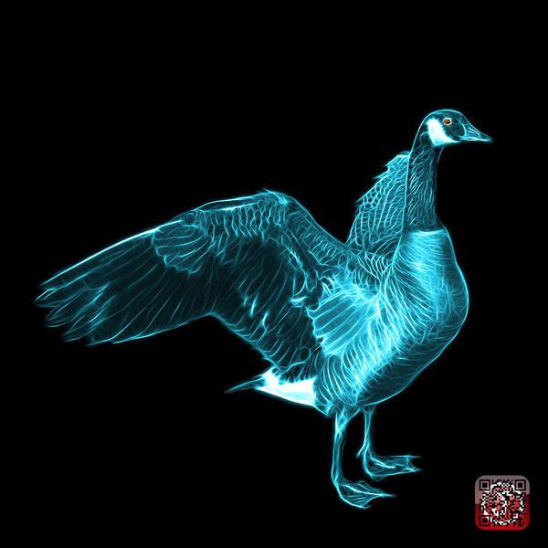 Mixed Media - Cyan Canada Goose Pop Art - 7585 - Bb  by James Ahn