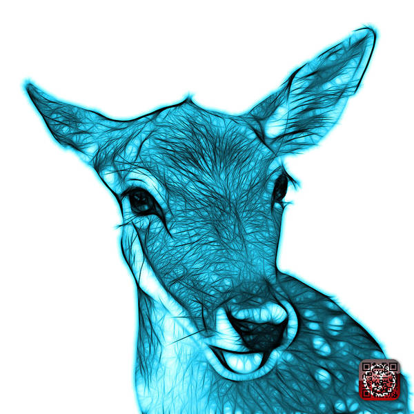 Digital Art - Cyan Deer - 0401 Fs by James Ahn