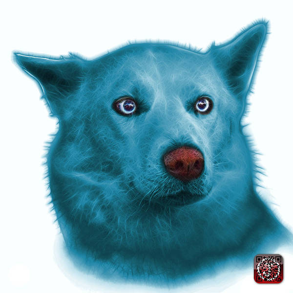 Painting - Cyan Mila - Siberian Husky - 2103 - Wb  by James Ahn