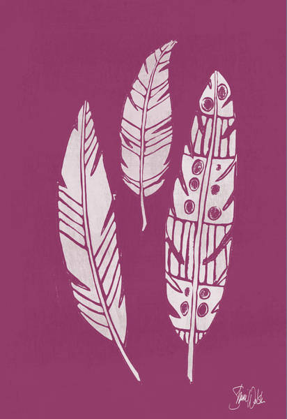Wall Art - Painting - Cyanotype Feathers II by Shanni Welsh