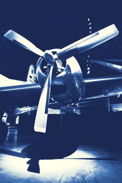 Wall Art - Photograph - Cyanotype Vintage Airplane by Dan Sproul