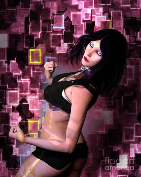 Digital Art - Cyber Attitude by Elle Arden Walby