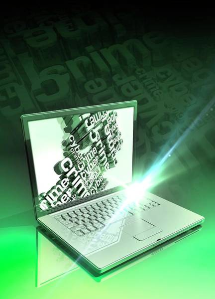 Wi Photograph - Cyber Crime by Victor Habbick Visions/science Photo Library