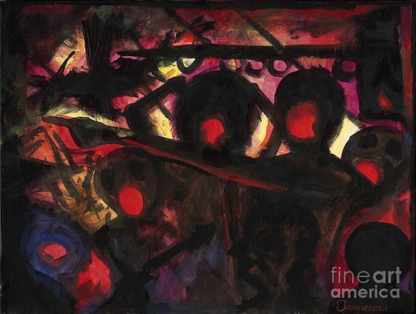Psychosis Painting - Cyber Psychosis by Andrew Stewart Jamieson