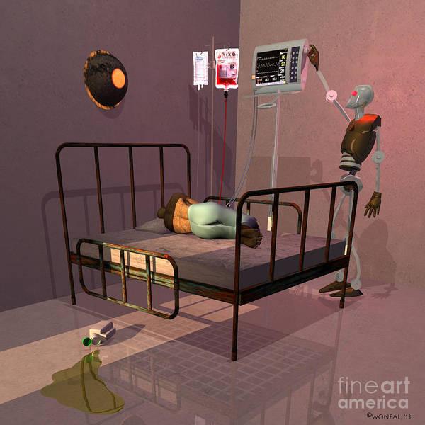 Digital Art - Cybercare In 2092 - Night Shift by Walter Neal