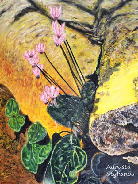 Painting - Cyclamen by Augusta Stylianou