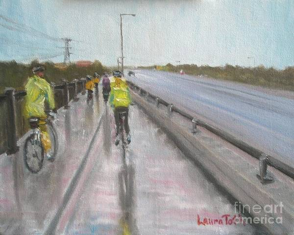 Painting - Cycle Club by Laura Toth