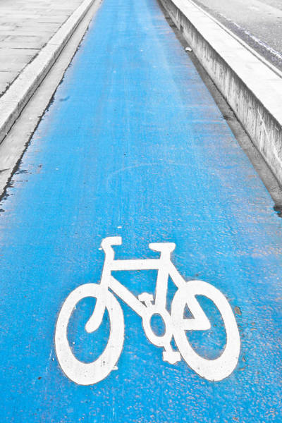 Bike Wall Art - Photograph - Cycle Path by Tom Gowanlock