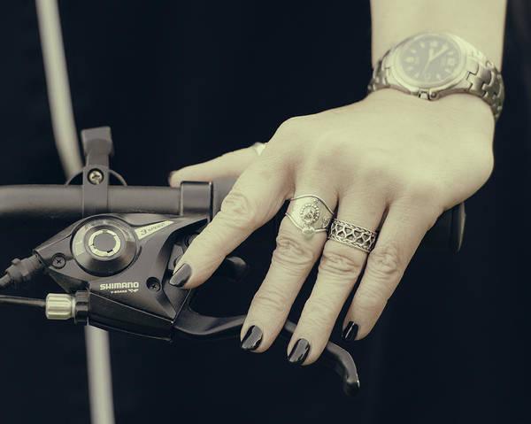 Photograph - Cycling Lady by Ari Salmela