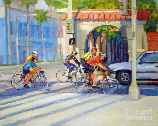 Cycling Past The Archway Art Print